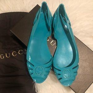 Gucci jelly flat sandals